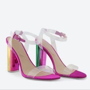 ALDO • astareni transparent fuchsia sandals
